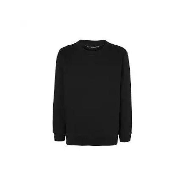 Black Sweatshirts Round Neck for Men and Women