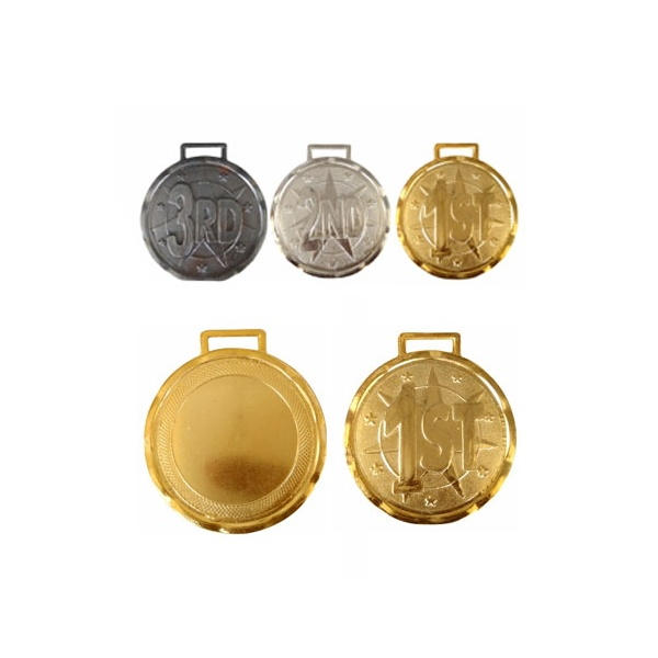 Metal-Medal-Heavy-Weight-Gold-Silver-Bronze Set of 3 Pcs Size 2.5