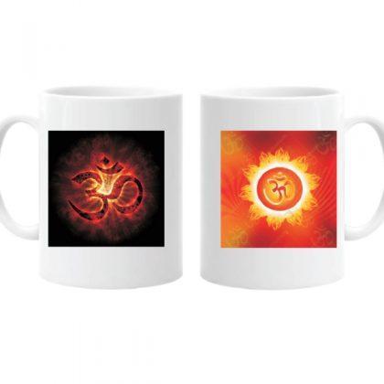 Ceramic Coffee Mug Printed Om Spiritual Memento