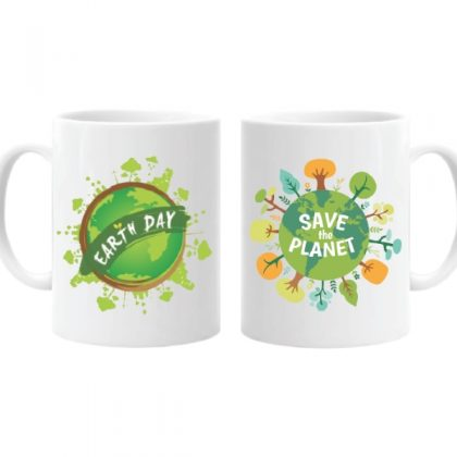 Ceramic Coffee Mug Printed Save Earth – Save Environment