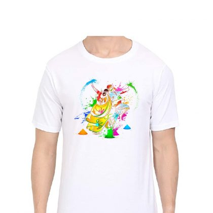 Happy Holi Round Neck Sarina T-shirt Garba