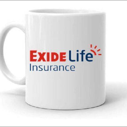 Ceramic Coffee Mug Printed Design Exide Life Insurance